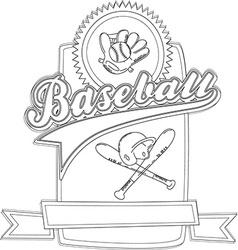 Basbeall design element vector
