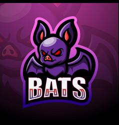 bat mascot esport logo design vector image