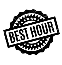 Best Hour rubber stamp vector