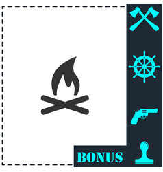 bonfire icon flat vector image