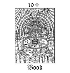 Book tarot card from lenormand gothic mysteries vector