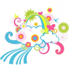 children's background vector image