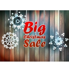 Christmas snowflakes with big sale vector