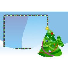Christmas tree placard vector