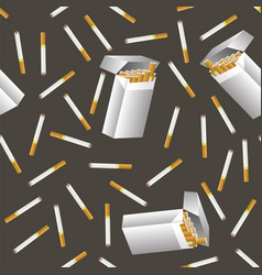 cigarette seamless pattern vector image