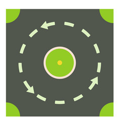 Circular road icon cartoon style vector