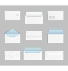 Closed and open envelopes set vector image