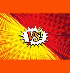 Comic duel horizontal concept vector