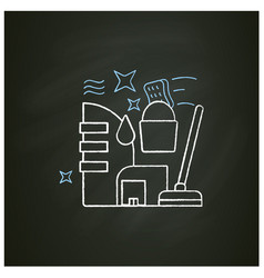 Commercial cleaning chalk icon vector