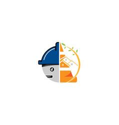 Construction and building logo design template vector