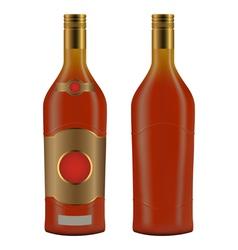 Cuban rum bottle vector