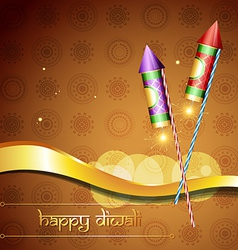 diwali festival cracker vector image