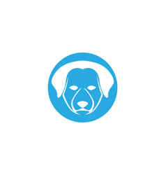 dog head symbol and logo vector image