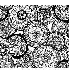 ethnic indian pattern nature seamless pattern vector image