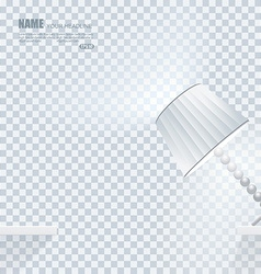 falling down lamp with light effects on clean vector image
