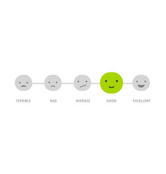 Feedback concept design - emotions scale vector