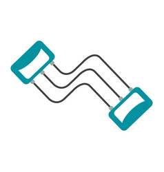 fitness resistance band vector image