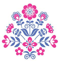 Floral scandinavian folk art pattern vector