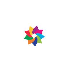 flowers design logo template vector image
