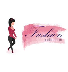 Flyer fashion collection international exhibition vector