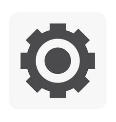 gear icon black vector image