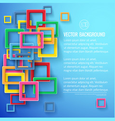 Geometric colorful composition blue background vector
