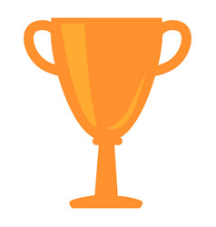 golden cup award icon isolated vector image vector image
