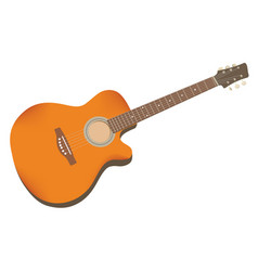 guitar acoustic vector image