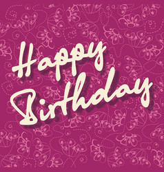 happy birthday congratulation card template with vector image