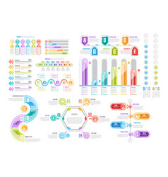 Infographic templates for data presentation vector
