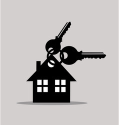 keys and house icons vector image