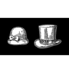 Ladies and gentlemen hat vector