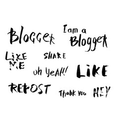 Lettering for social media vector
