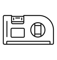 level angle tool icon outline style vector image