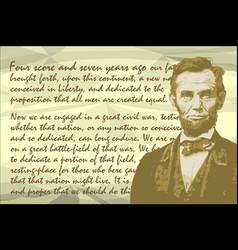 Lincoln gettysburg address vector