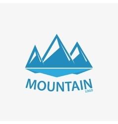 Logo design element Mountain hill rock vector