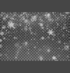 Magic christmas snow abstract snowfall holiday vector