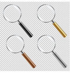 Magnifying glass set vector