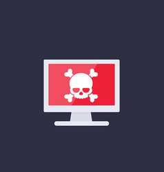 Malware spam online scam computer virus icon vector
