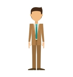 Man in suit without face and black hair vector