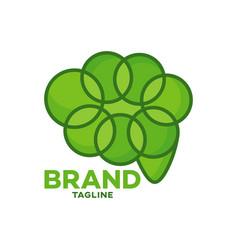 Modern leaf brain logo vector