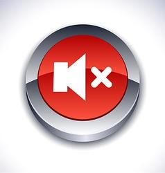 Mute 3d button vector
