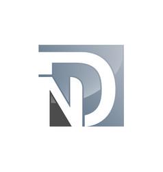 nd n d letter logo design in black colors vector image