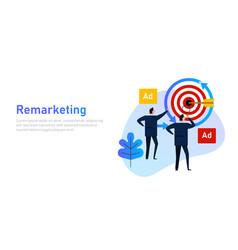 remarketing retargeting businessman target vector image