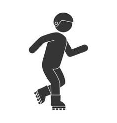 Roller skate man vector