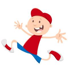 Running snaggletooth boy vector