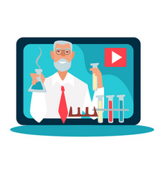 science blogger and scientific video blog vector image