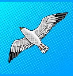Sea gull bird pop art style vector