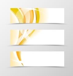 Set of banner vector