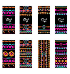 Set of colorful vertical banners vector